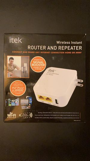 Itek Wireless Instar Router and Repeater for Sale in Miami, FL