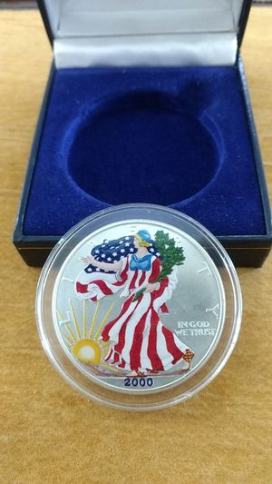 2000 colorized silver eagle for Sale in Heidelberg, PA