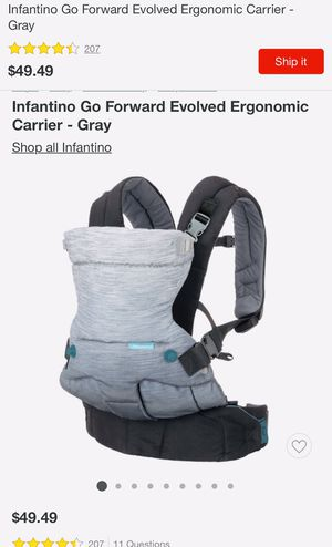 Infantino 4 in 1 baby Carrier for Sale in Port St. Lucie, FL