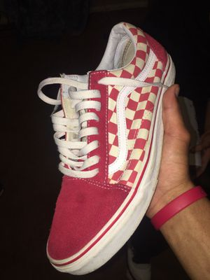 Red checkered vans for Sale in Norcross, GA