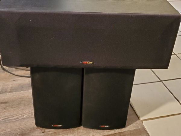 Polk Audio Two Bookcase Front Speakers and a Center Speaker