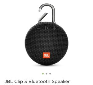 JBL CLIP 3 Bluetooth Speaker for Sale in Orlando, FL