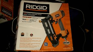 NEW IN BOX RIDGID Straight Finish Nailer for Sale in Chicago, IL