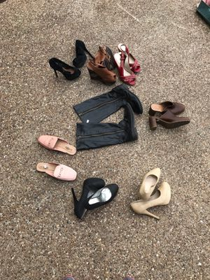 Lot of 8 pair - Ladies Shoes- sizes range from 7.5 to 8.5 for Sale in Grand Prairie, TX