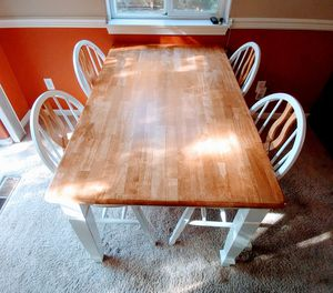 Standard Wooden Table and Chairs for Sale in Keizer, OR