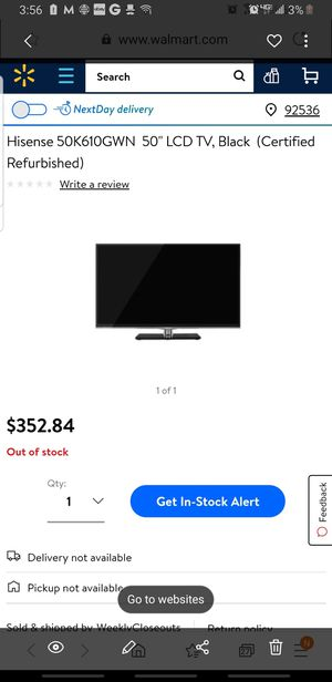 Hisence 50 inch smart tv for Sale in Murrieta, CA
