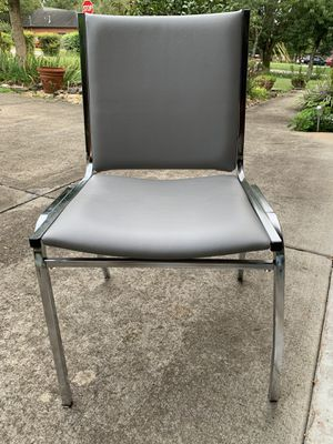 Stackable gray vinyl chairs for Sale in Smyrna, TN