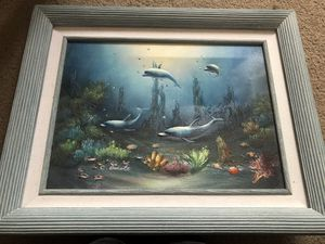 Signed C Benolt Dolphin Oil Painting for Sale in Germantown, MD
