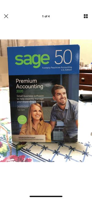 Sage 50 Premium Accounting Software 2020 U.S. 1-User New DVD Factory Sealed! for Sale in Niles, IL