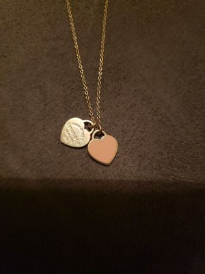 Tiffany & Company Mini Double Heart Tag Pendant for Sale in Greater Carrollwood, FL