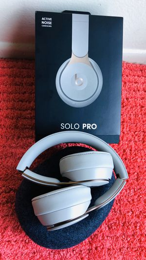 Beats by Dr. Dre Solo Pro Wireless Noise-Canceling On-Ear Headphones (Gray) for Sale in Garden Grove, CA