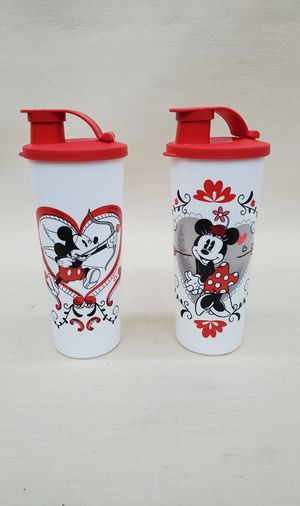 New Tupperware Disney Mickey & Minnie Tumbler Lidded Travel Cups for Sale in Goodyear, AZ