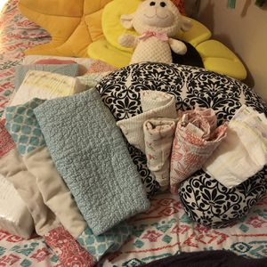 Baby Linens, Diapers, Changing Pad, Bath Flower for Sale in Avon, CT