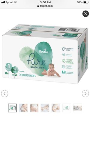 Brand New Size 1 Pampers Pure Protection Brand Diapers for Sale in Baltimore, MD