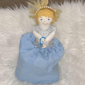 Vintage 1970s Handmade Plush Topsy Turvy Cinderella 2-in-1 Storyteller Ragdoll for Sale in Centerton, AR