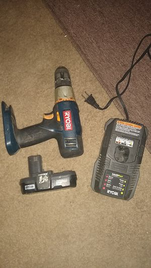 Ryobi drill with charger for Sale in Biloxi, MS