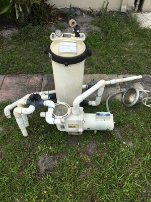 Pool pump With filter and fittings for Sale in Hollywood, FL