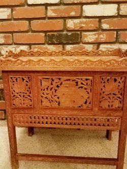 Rare Carved Asian Indian Sheesham Table for Sale in Tualatin,  OR