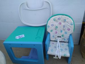 Kids high chair and table for Sale in San Antonio, TX