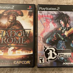 Rare Ps2 Games Shadow of Rome/The Bouncer for Sale in Los Gatos, CA