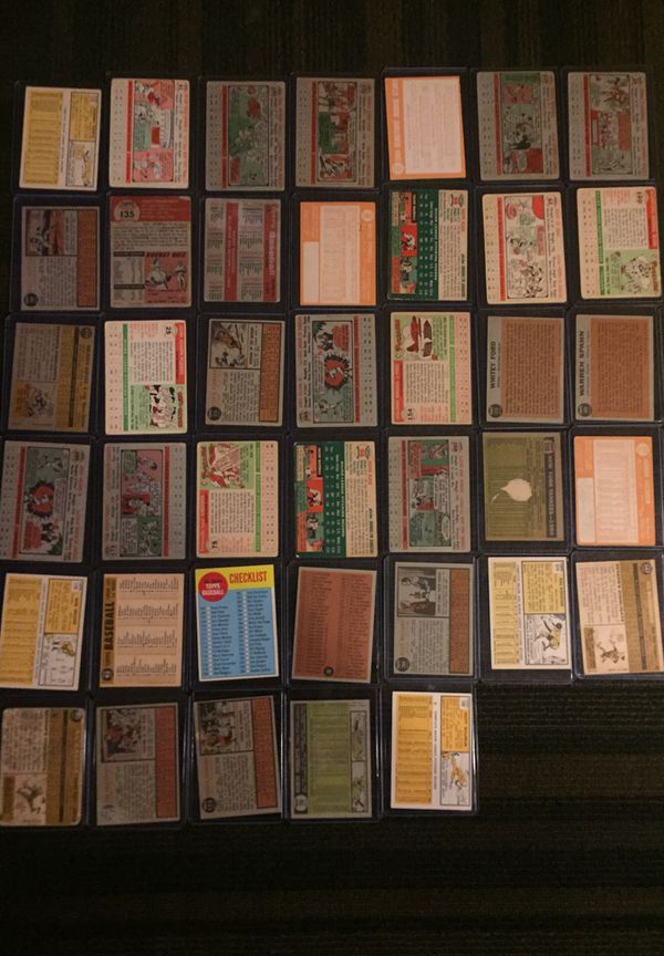 Baseball Cards Collectible 1950's-1960's