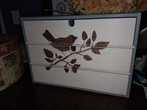 Decorative wood box for Sale in Tempe, AZ