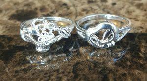 New Size 7 S925 Sterling Silver Rings($5 each) for Sale in Wichita, KS