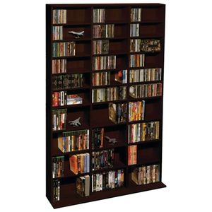 Adjustable Shelf Wood Media Storage Wall Bookcase for Sale in Houston, TX