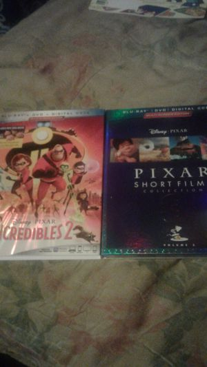 Incredible 2 and Pixar short Films 3 both on blu Ray...and Never been open for Sale in Amory, MS