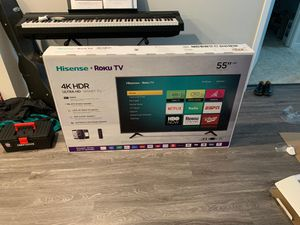 "Brand New Hisense 55"" R Series 6 Roku Smart TV with HDR, 2160P 4K WIFI 55R6040F for Sale in Cupertino, CA"