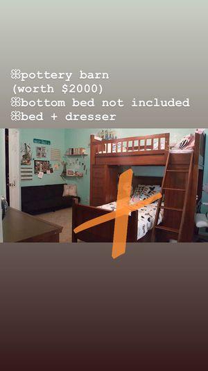 Loft bed with desk & dresser - Pottery Barn for Sale in Sun City, AZ