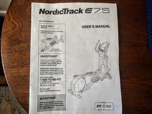 NordicTrack E75 Elliptical for Sale in Gilbert, AZ