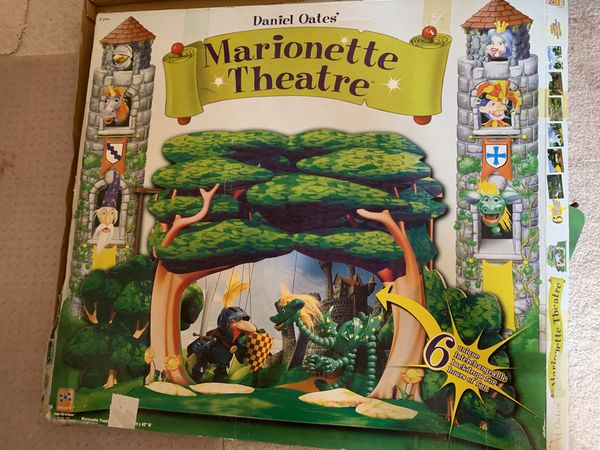 Wooden theatre and puppets