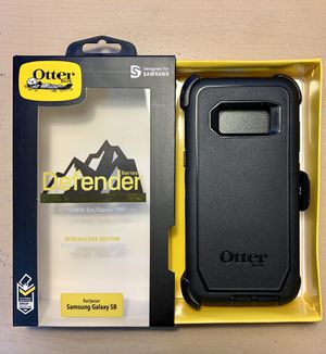 SS For S8 Samsung Galaxy. OtterBox Defender. Case Cover. Triple Layer Protection. Belt Clip & Holster. Black Color. for Sale in Santa Clarita, CA