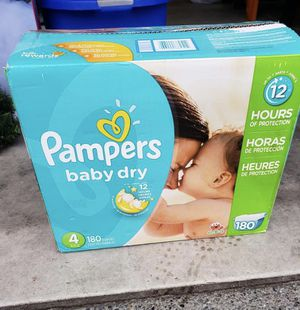 180 Pampers Baby Dry Diapers size 4 for Sale in Maple Valley, WA