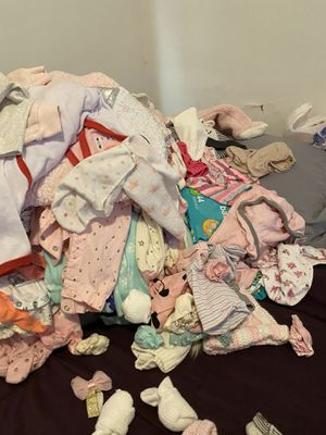 Baby girl clothes and diapers for Sale in Cleveland, OH
