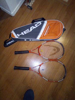 2 Head Liquid Metal Radical Tennis Rackets/Head bag for Sale in Phoenix, AZ