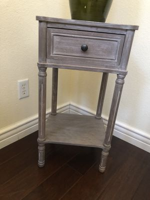 Grey Distressed Look End Table for Sale in Las Vegas, NV