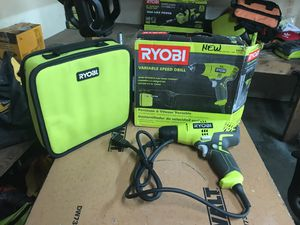 (Brand New) RYOBI 5.5 Amp Corded 3/8 in. Variable Speed Compact Drill/Driver with Bag for Sale in Fontana, CA