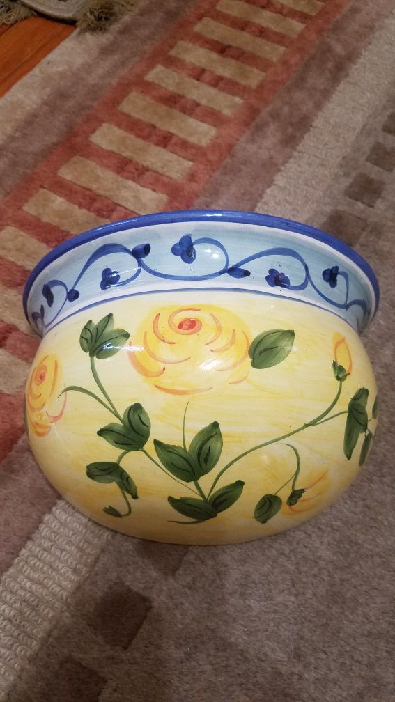 New hand painted ceramic wall mounting flower box