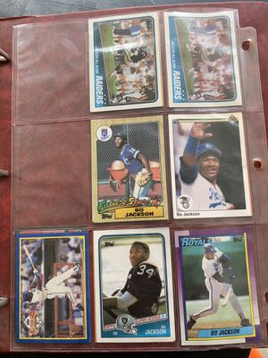 Collection of Bo Jackson cards (includes rookie) for Sale in Sterling, VA