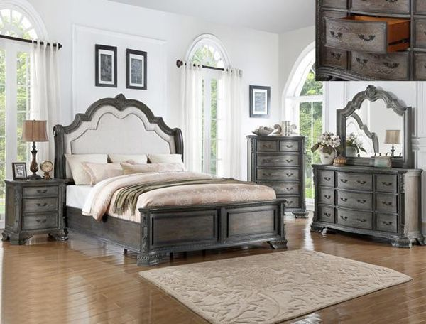 [SPECIAL] Sheffield Antinfhque Gray Panel Bedroom Set