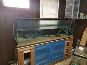 125 gallon aquarium, stand and homeade filter. Fish are sold. for Sale in Riverdale, GA
