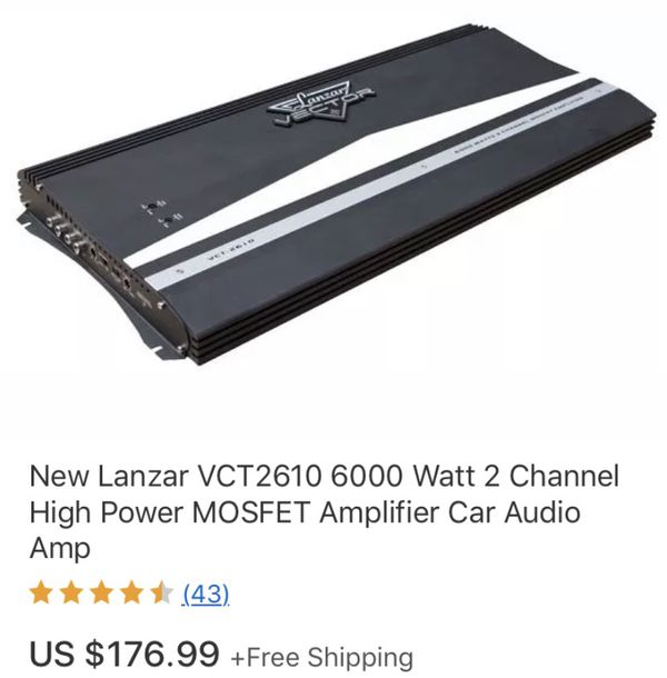 Lanzar High power amp Don't waste my time if you don't want it