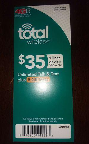 Total Wireless Phone card for Sale in Verbena, AL