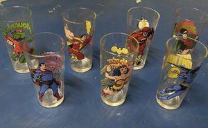 Batman, Superman, Wonder Woman, Aqua-man, etc Glass Set ...DC Comics for Sale in San Jose, CA