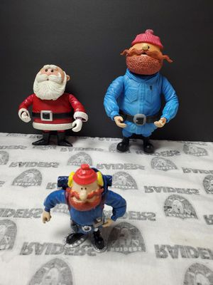 Rudolph The Red Nose Reindeer Santa and Yukon Figures for Sale in Santa Ana, CA