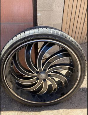 24 inch rims and tires for Sale in Casa Grande, AZ