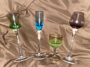 Beautiful collection of glass gobblers (4) for Sale in Fort Lauderdale, FL