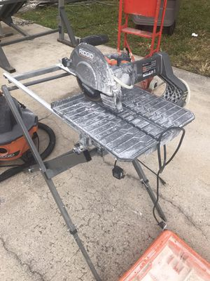 Rigid Table-saw and Vacuum for Sale in West Palm Beach, FL